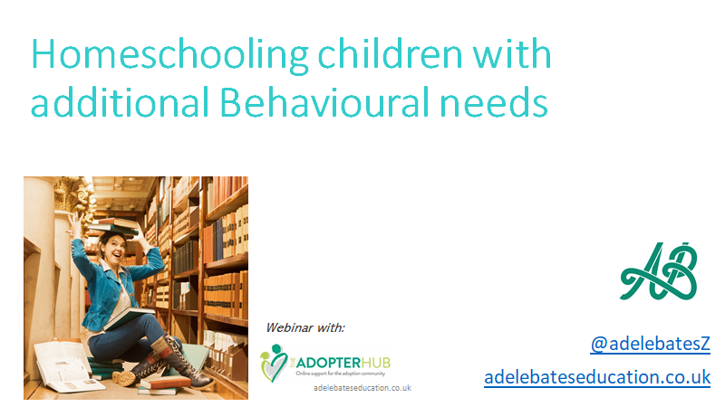Homeschooling children with Behaviour Needs